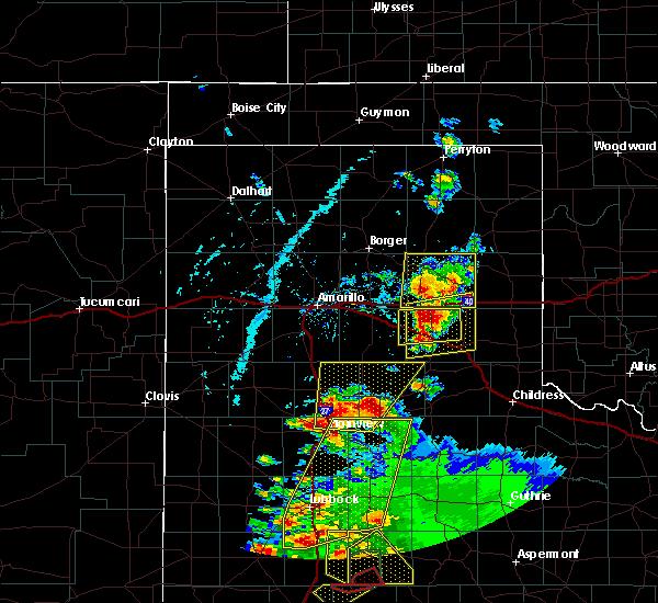 Radar Image for Severe Thunderstorms near Howardwick, TX at 5/23/2020 6:24 PM CDT