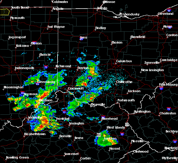 Radar Image for Severe Thunderstorms near Russellville, OH at 5/23/2020 7:25 PM EDT