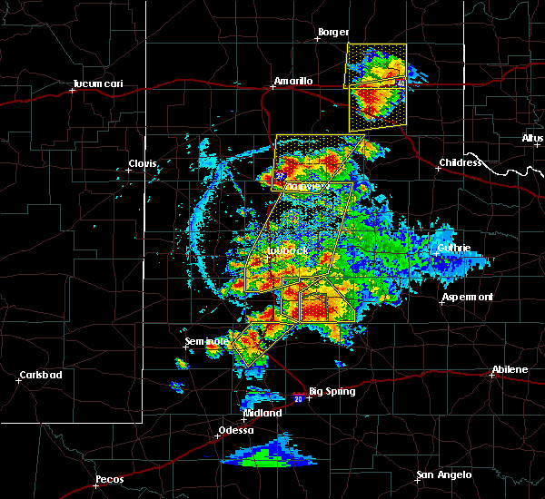 Radar Image for Severe Thunderstorms near New Deal, TX at 5/23/2020 6:32 PM CDT