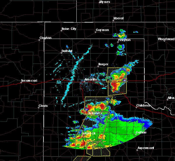 Radar Image for Severe Thunderstorms near McLean, TX at 5/23/2020 6:36 PM CDT