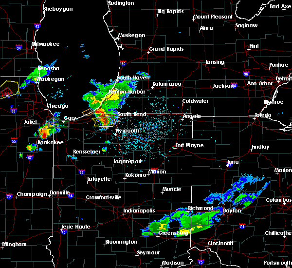 Radar Image for Severe Thunderstorms near North Liberty, IN at 5/23/2020 7:37 PM EDT