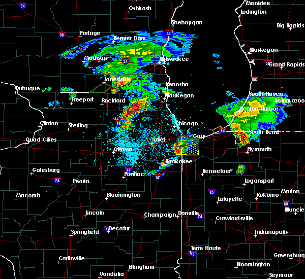 Radar Image for Severe Thunderstorms near Beecher, IL at 5/23/2020 6:45 PM CDT