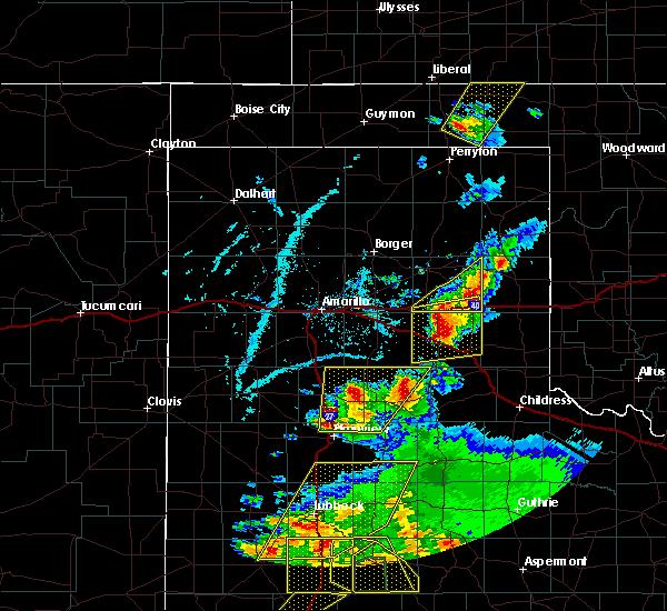 Radar Image for Severe Thunderstorms near Wheeler, TX at 5/23/2020 6:46 PM CDT