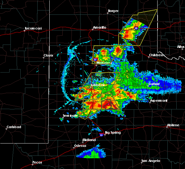Radar Image for Severe Thunderstorms near New Deal, TX at 5/23/2020 6:51 PM CDT