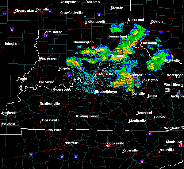 Radar Image for Severe Thunderstorms near Frankfort, KY at 5/23/2020 7:56 PM EDT