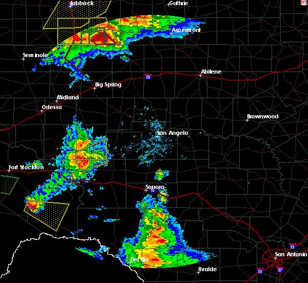 Radar Image for Severe Thunderstorms near Big Lake, TX at 5/23/2020 6:56 PM CDT