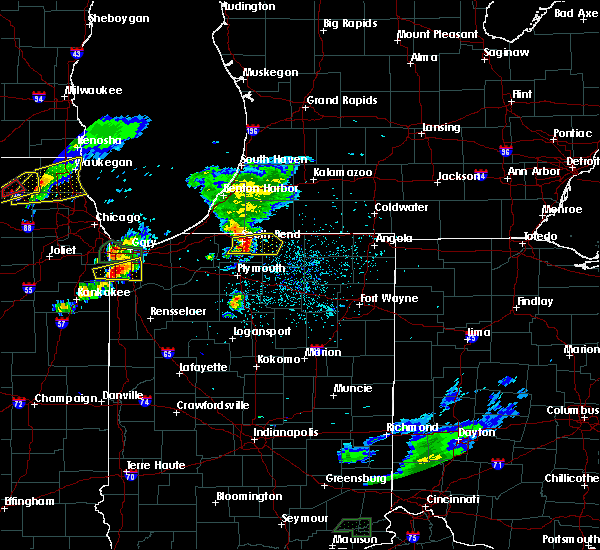 Radar Image for Severe Thunderstorms near Notre Dame, IN at 5/23/2020 8:00 PM EDT