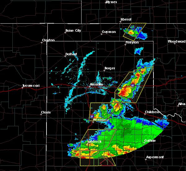 Radar Image for Severe Thunderstorms near Howardwick, TX at 5/23/2020 7:04 PM CDT