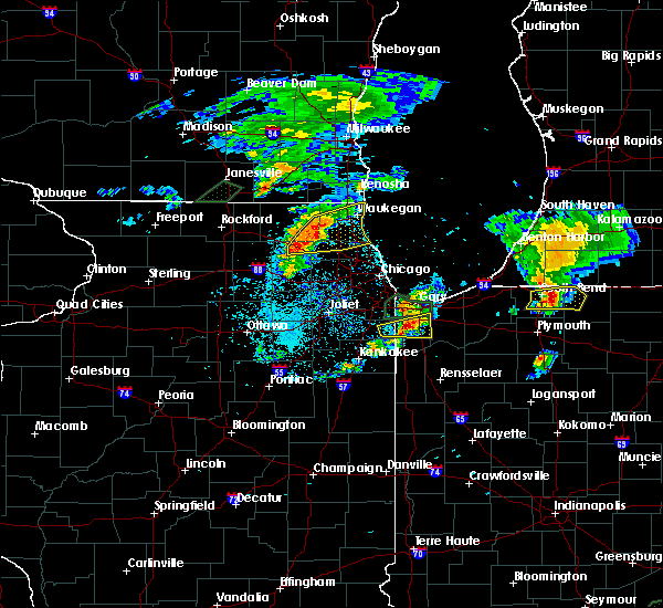 Radar Image for Severe Thunderstorms near Cedar Lake, IN at 5/23/2020 7:08 PM CDT