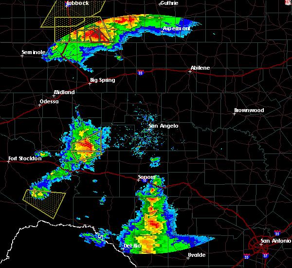 Radar Image for Severe Thunderstorms near Big Lake, TX at 5/23/2020 7:14 PM CDT