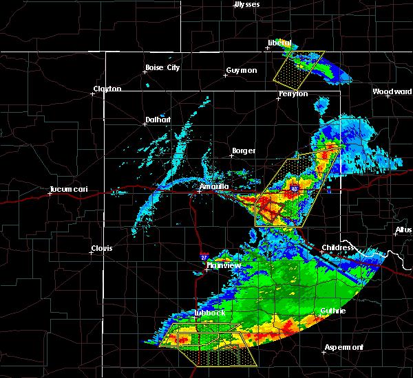 Radar Image for Severe Thunderstorms near Howardwick, TX at 5/23/2020 7:31 PM CDT
