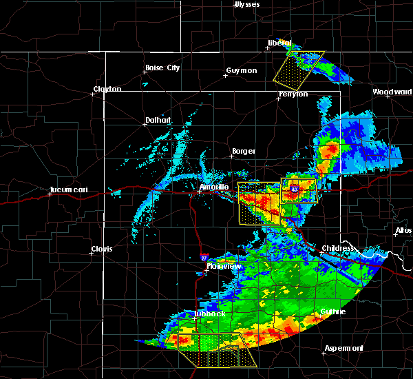 Radar Image for Severe Thunderstorms near McLean, TX at 5/23/2020 7:34 PM CDT