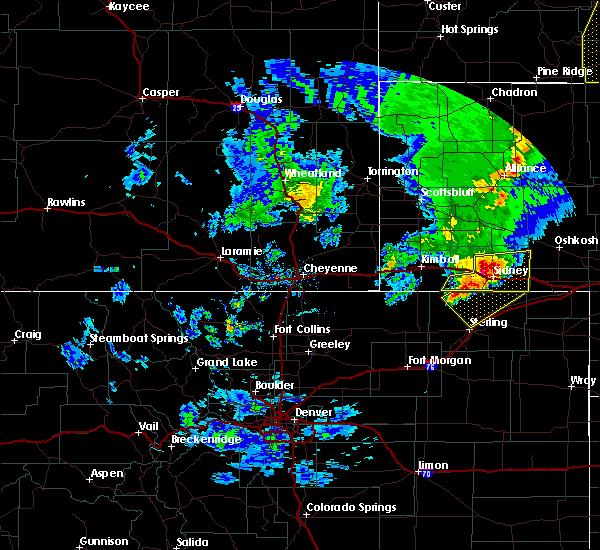 Radar Image for Severe Thunderstorms near Lodgepole, NE at 5/23/2020 6:36 PM MDT