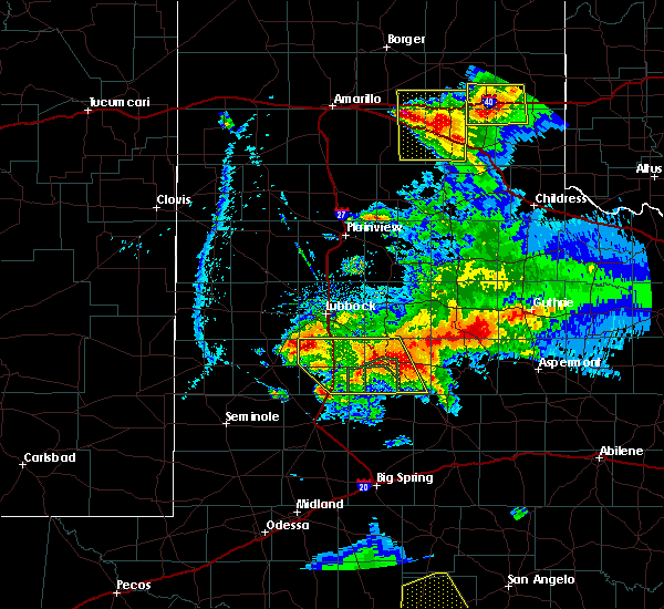 Radar Image for Severe Thunderstorms near Dickens, TX at 5/23/2020 7:37 PM CDT