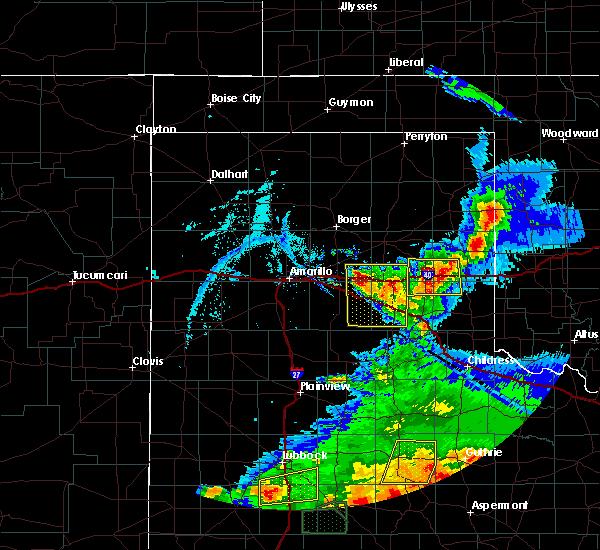 Radar Image for Severe Thunderstorms near Howardwick, TX at 5/23/2020 7:49 PM CDT