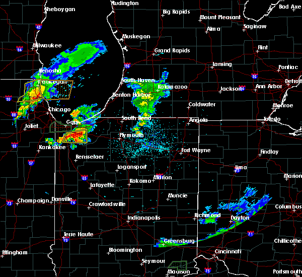 Radar Image for Severe Thunderstorms near La Crosse, IN at 5/23/2020 7:59 PM CDT