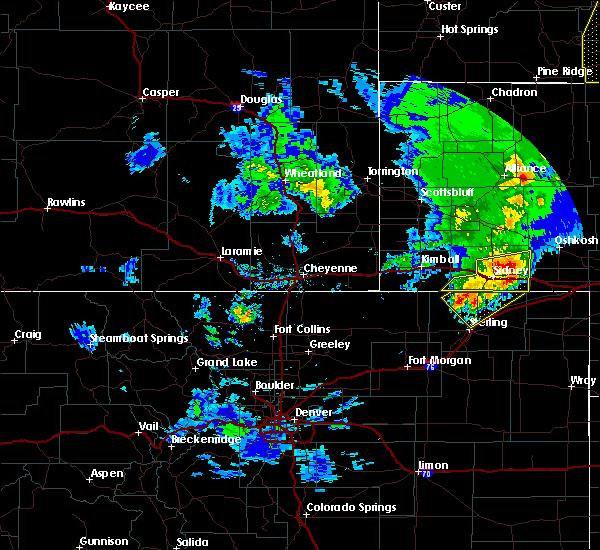 Radar Image for Severe Thunderstorms near Lodgepole, NE at 5/23/2020 7:02 PM MDT