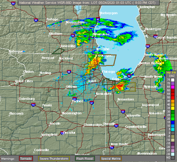 Radar Image for Severe Thunderstorms near Aberdeen, IN at 5/23/2020 8:06 PM CDT