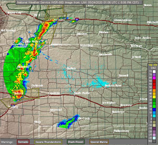 Radar Image for Severe Thunderstorms near Chappell, NE at 5/23/2020 7:07 PM MDT