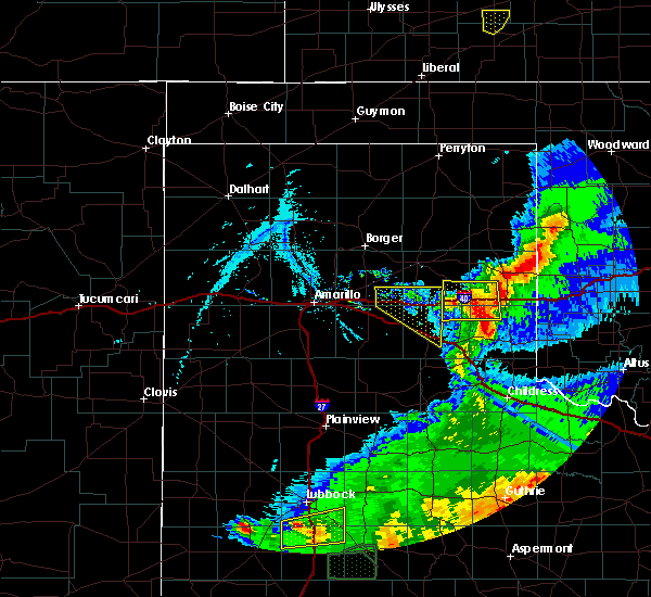 Radar Image for Severe Thunderstorms near McLean, TX at 5/23/2020 8:13 PM CDT