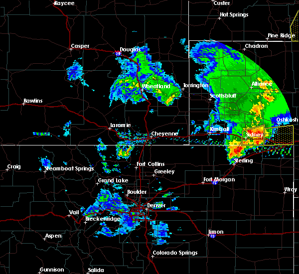 Radar Image for Severe Thunderstorms near Lodgepole, NE at 5/23/2020 7:19 PM MDT