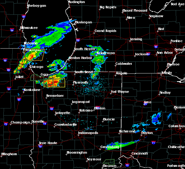 Radar Image for Severe Thunderstorms near La Crosse, IN at 5/23/2020 8:26 PM CDT