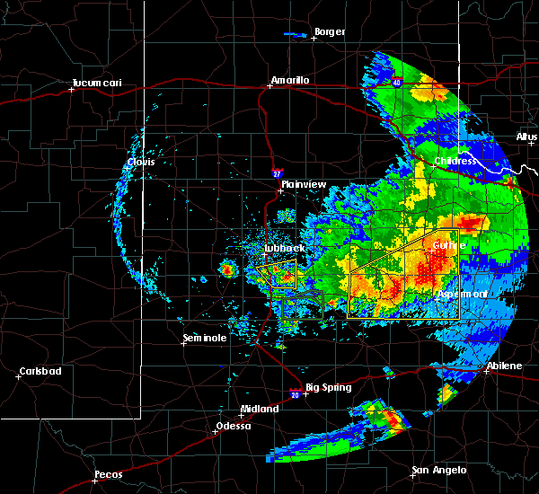 Radar Image for Severe Thunderstorms near Wolfforth, TX at 5/23/2020 8:39 PM CDT