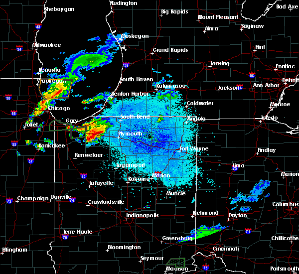 Radar Image for Severe Thunderstorms near La Crosse, IN at 5/23/2020 8:49 PM CDT