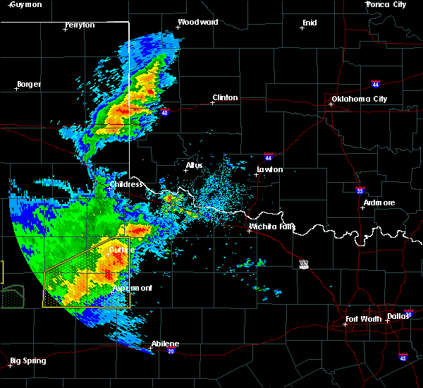 Radar Image for Severe Thunderstorms near Benjamin, TX at 5/23/2020 8:49 PM CDT