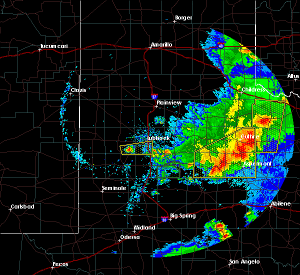 Radar Image for Severe Thunderstorms near Guthrie, TX at 5/23/2020 8:50 PM CDT