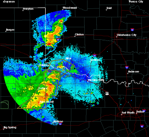 Radar Image for Severe Thunderstorms near Benjamin, TX at 5/23/2020 9:16 PM CDT
