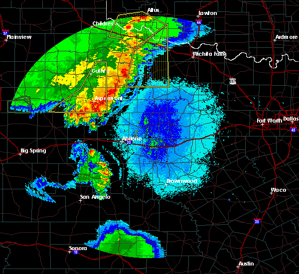 Radar Image for Severe Thunderstorms near Rochester, TX at 5/23/2020 9:42 PM CDT