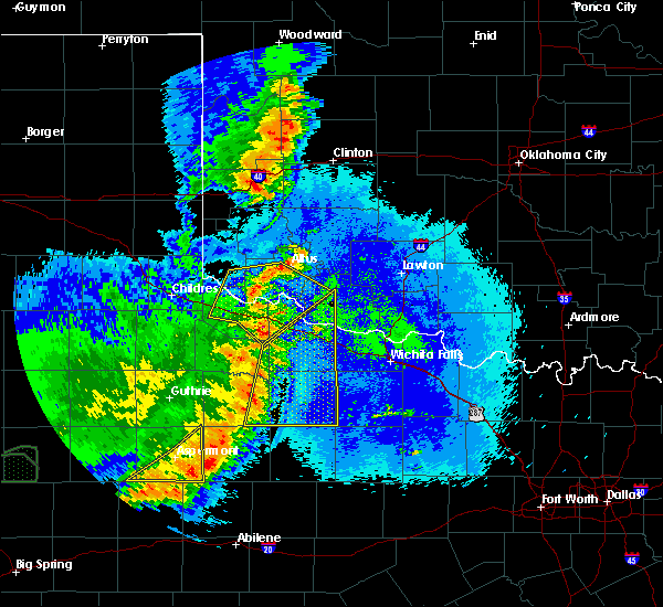 Radar Image for Severe Thunderstorms near Chillicothe, TX at 5/23/2020 9:43 PM CDT