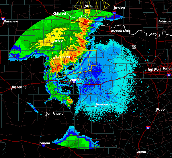 Radar Image for Severe Thunderstorms near Rochester, TX at 5/23/2020 10:10 PM CDT