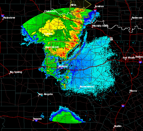 Radar Image for Severe Thunderstorms near Rochester, TX at 5/23/2020 10:41 PM CDT