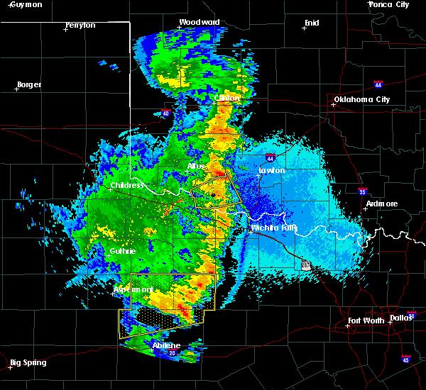 Radar Image for Severe Thunderstorms near Frederick, OK at 5/23/2020 10:56 PM CDT