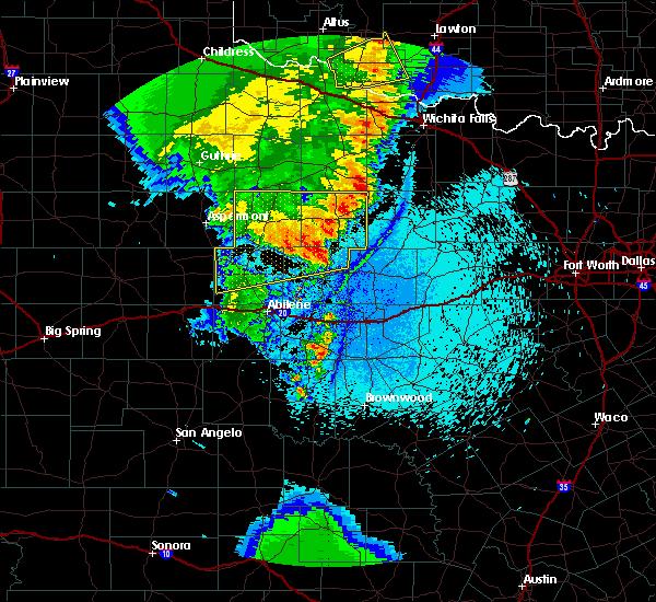 Radar Image for Severe Thunderstorms near Elbert, TX at 5/23/2020 11:02 PM CDT