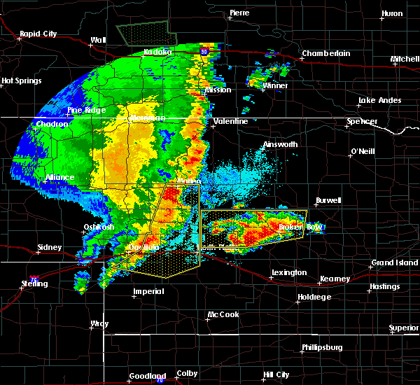 Radar Image for Severe Thunderstorms near Sarben, NE at 5/23/2020 10:04 PM MDT
