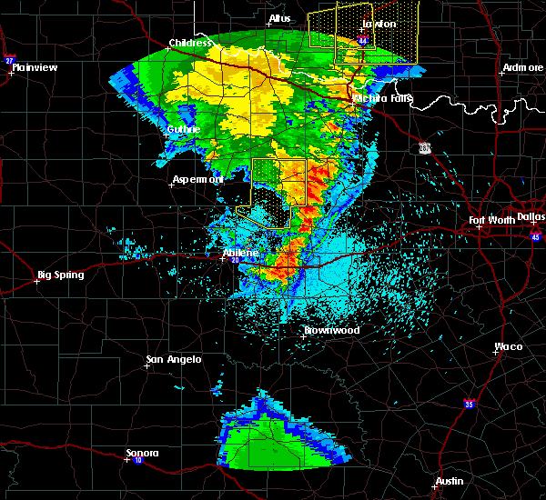 Radar Image for Severe Thunderstorms near Elbert, TX at 5/23/2020 11:34 PM CDT