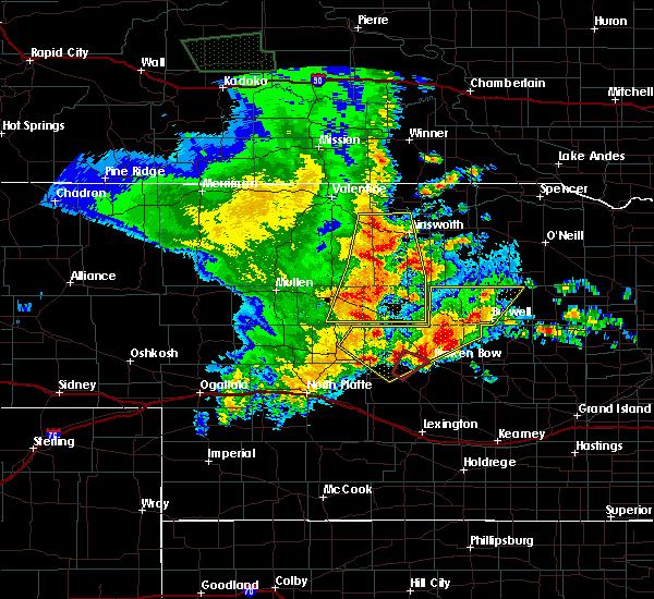 Radar Image for Severe Thunderstorms near Broken Bow, NE at 5/24/2020 12:01 AM CDT