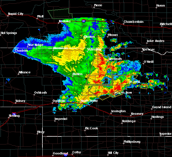 Radar Image for Severe Thunderstorms near Callaway, NE at 5/24/2020 12:11 AM CDT