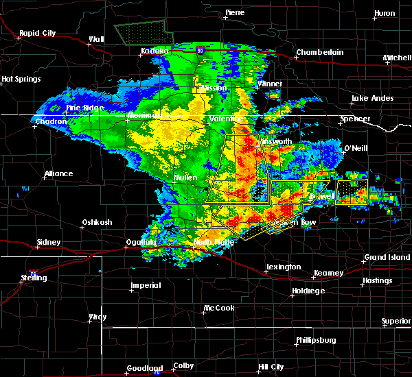 Radar Image for Severe Thunderstorms near Bartlett, NE at 5/24/2020 12:15 AM CDT