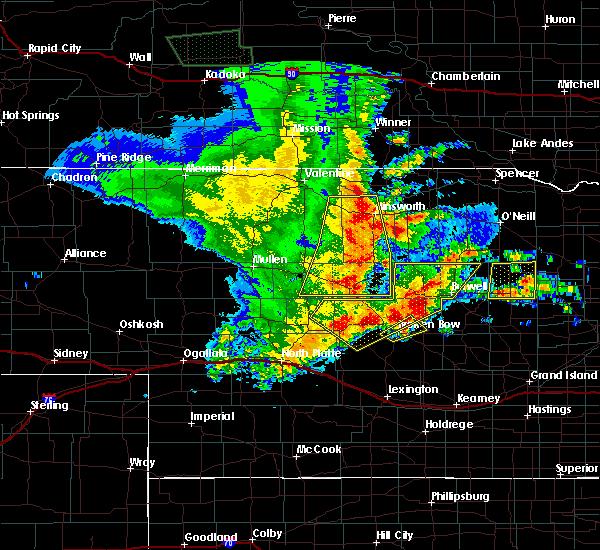 Radar Image for Severe Thunderstorms near Brewster, NE at 5/24/2020 12:21 AM CDT
