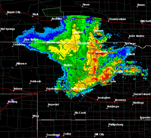 Radar Image for Severe Thunderstorms near Atkinson, NE at 5/24/2020 12:26 AM CDT