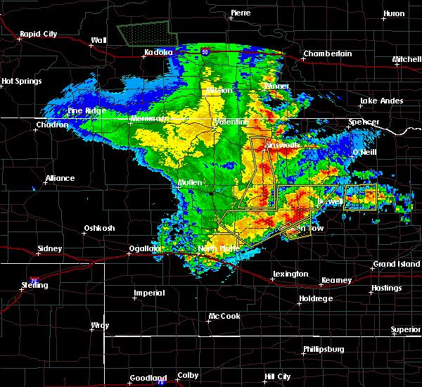 Radar Image for Severe Thunderstorms near Ord, NE at 5/24/2020 12:34 AM CDT