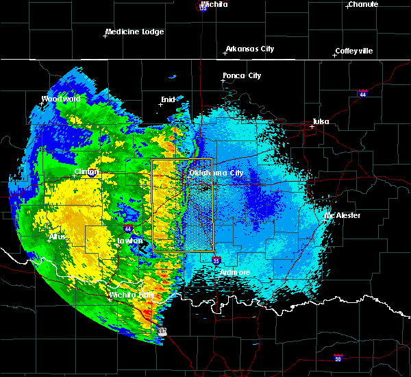 Radar Image for Severe Thunderstorms near Slaughterville, OK at 5/24/2020 12:45 AM CDT