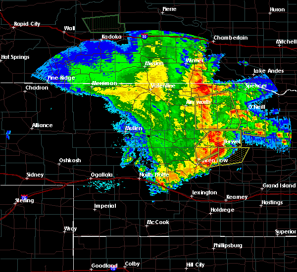 Radar Image for Severe Thunderstorms near Ord, NE at 5/24/2020 12:55 AM CDT