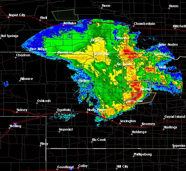 Radar Image for Severe Thunderstorms near Bartlett, NE at 5/24/2020 1:00 AM CDT