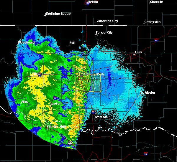 Radar Image for Severe Thunderstorms near Slaughterville, OK at 5/24/2020 1:26 AM CDT