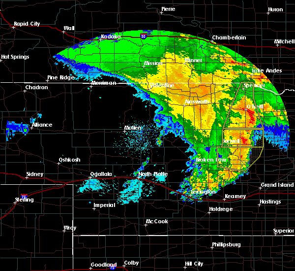 Radar Image for Severe Thunderstorms near Bartlett, NE at 5/24/2020 1:59 AM CDT